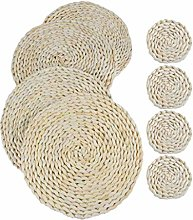 SPDYCESS Weave Placemat Round Braided Rattan