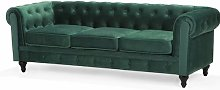 Spears 3 Seater Chesterfield Sofa Canora Grey