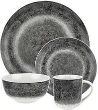 Speckle Grey Porcelain 16 Piece Dinner Set