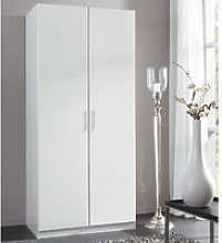 Spectral Wooden Tall Wardrobe In White With 2 Doors
