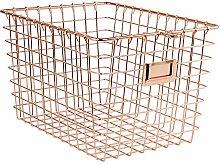 Spectrum Diversified Storage Basket, Small, Copper