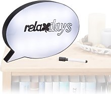 Speech Bubble Sign Board LED Light Up Box Wall