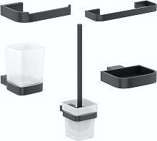 Spencer black ensuite 5 piece accessory set - Mode