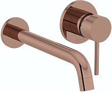 Spencer round wall mounted rose gold basin mixer