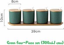 Spice Container Ceramic Spice Jar Kitchen