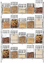 Spice Herb Jar Rack Holder for Kitchen Cabinet