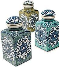 Spice Jar 6 x 6 x 13cm Handpainted FairTrade