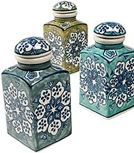 Spice Jar 6 x 6 x 13cm Handpainted FairTrade