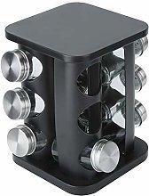 Spice Jar Holder, 12Pcs Rotating Stainless Steel