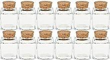 Spice Jar Set with Cork | | Capacity 50ml | Cub