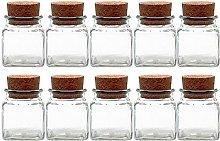 Spice Jar Set with Cork 10set | Capacity 120ml