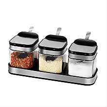 Spice Jar Storage Round Kitchen Glass Food