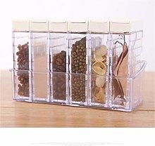 Spice Jar Transparent Kitchen Lid Seasoning Box