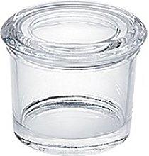 Spice jar with glass lid