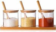 Spice Jars 3pcs/Set Glass Herb Spice Tools