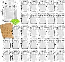 Spice Jars, KAMOTA 30 PACK 3.5 oz Small Glass Jars