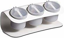 Spice Jars Seasoning Box Spice Rack 3-Jar