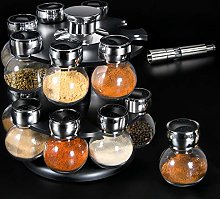 Spice Jars with Rack 16PCS Seasoning Organizer