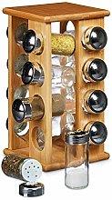 Spice Rack, 16-Jar Countertop Spice Rack