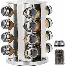Spice Rack, 16-Jar Revolving Countertop Spice Rack