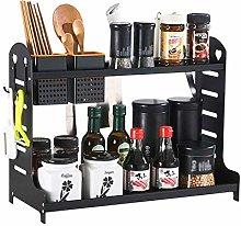 Spice Rack 2Tier Aluminum Bottle Shelf Kitchen