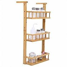Spice Rack,3-Tiers Wooden Herb Fridge Hanging