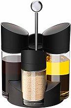 Spice Rack 5Pcs Rotating Cruet Sets for Spice