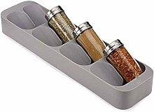 Spice Rack, 8-Jar Countertop Spice Rack Organizer,