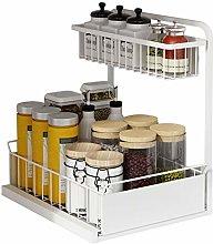 Spice Rack Organiser 2-Tier Spice Rack Drawer