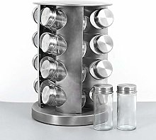 Spice Rack with 20 Jars, 360° Rotation, 27.5 cm