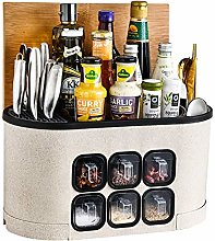 Spice Storage Rack Multifunction Kitchen Shelf for