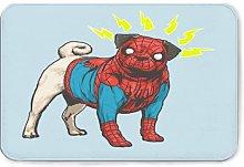Spider-PUG Flannel Bath Mat Non Slip Extra Cozy