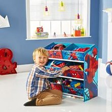 Spiderman 6 Bin Storage Unit