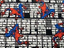 Spiderman Fabric - Grey Night Crawler Spiderman