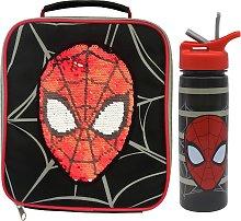 Spiderman Reversible Sequin Bag & Bottle - 600ml