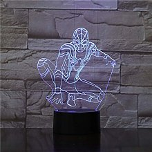Spiderman Shape Night Light 3D Stereo Vision Lamp