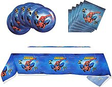 Spiderman-Themed Party Supplies, 10 Plates, 20