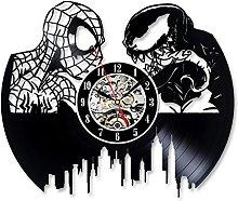 Spiderman Vs Venom Vinyl Record Wall Clock for