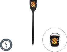 Spike spot black with flame effect incl. LED 2W -