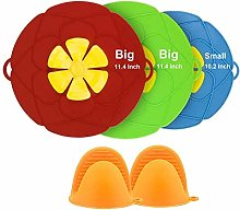 Spill Stopper Lid Cover Pack of 3,Horsky Silicone