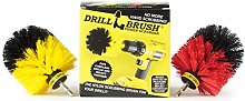 Spin Brush Cleaning Kit - Drill Brush - Concrete,