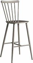 Spindle Bar Stool - Dark Grey - Alu Frame