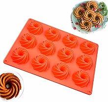 Spiral Cake Pans,Silicone Cake Tins Cookies
