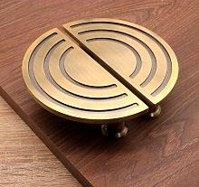 Spiral Half Moon Door Cabinet Handles - Antique