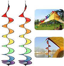 Spiral Windmill, Colorful Spiral Weather Vane