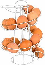 Spiraling Egg Skelter Dispenser Rack Iron Storage