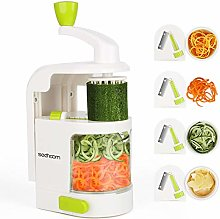 Spiralizer 4-Blade Vegetable Spiralizer Sedhoom