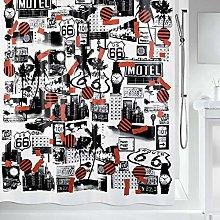 Spirella 10.19022Roadtrip Fabric Shower Curtain,
