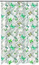 Spirella 10.19257Papillons green textile shower