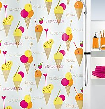 Spirella 1018684PEVA Shower Curtain with Ice